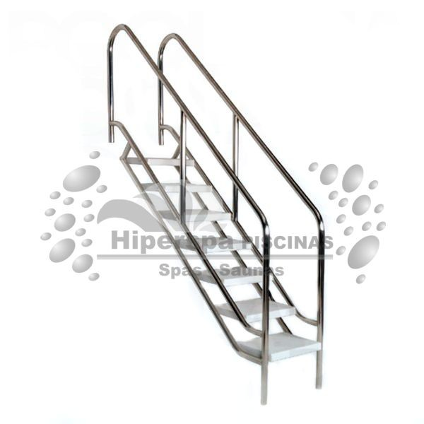 Escalera para piscina f cil acceso aisi 316 hiperspa for Escalera piscina