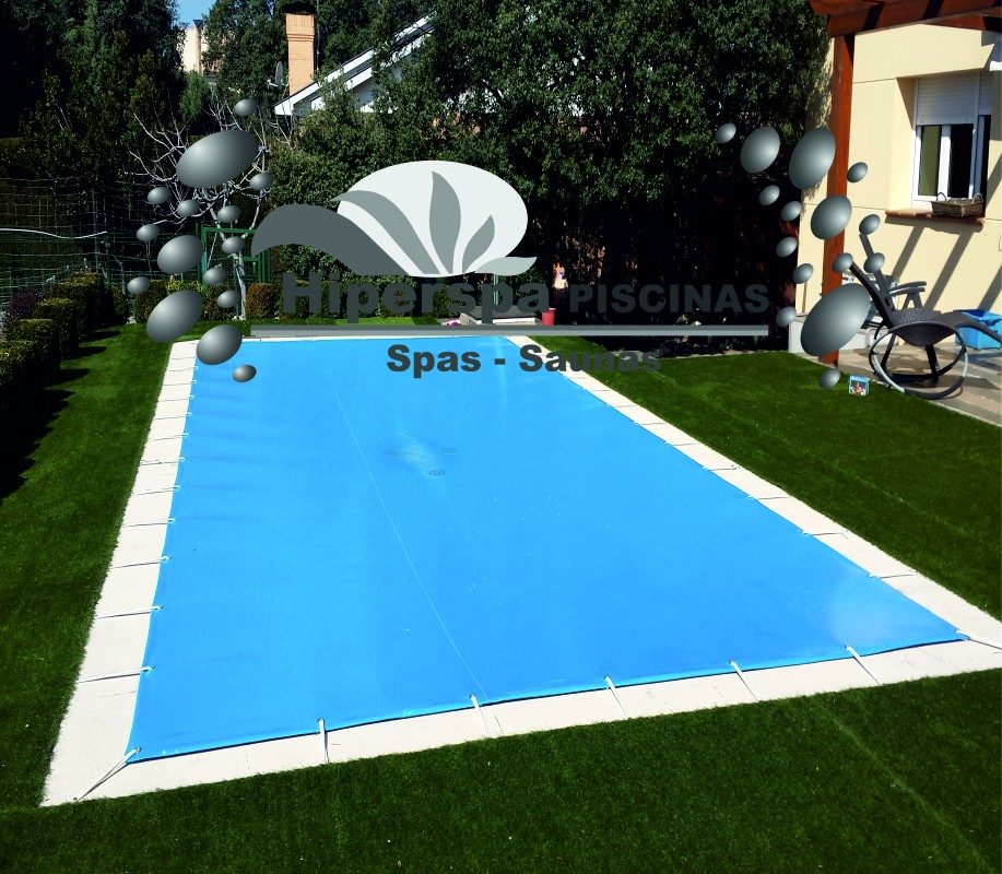 Lonas para piscinas 9 x 4 cobertor invierno hiperspa for Ofertas piscinas desmontables rectangulares