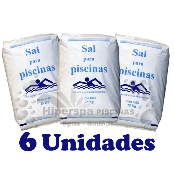 Sal para piscinas 6 sacos hiperspa - Piscinas con sal ...