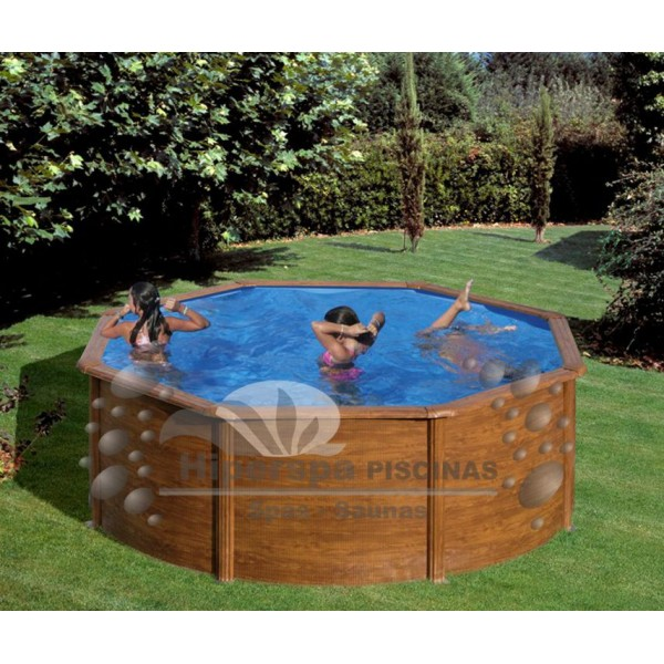 Piscina gre pacific imitaci n madera hiperspa for Repuesto piscina gre