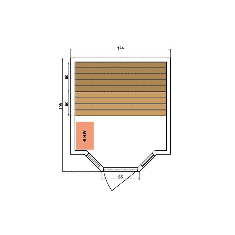 Sauna de infrarrojos Deluxe 3 lugares